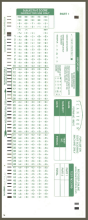 882-E Green Scantrons
